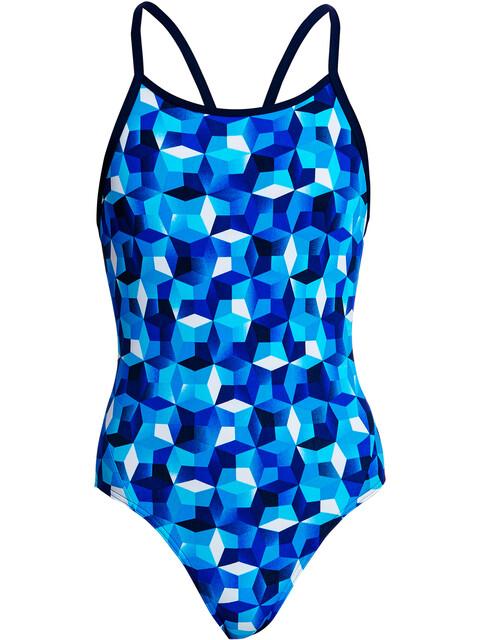 Funkita Diamond Back One Piece Swimsuit Girls ice fortress